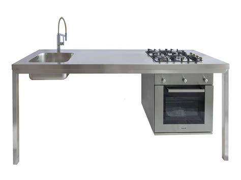 forno con piano cottura gps inox blocco cucina a parete