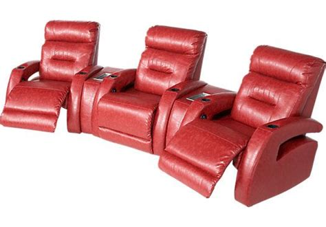shop for a symon circle 5 pc blended leather reclining