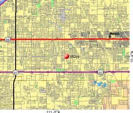 mesa arizona zip code map mesa az zip code map