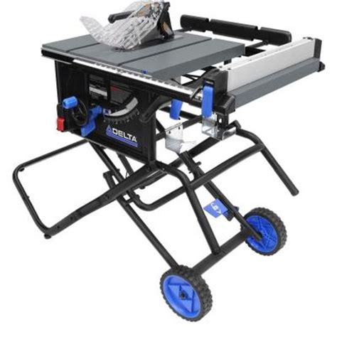 delta 10 in left tilt portable table saw with stand 36