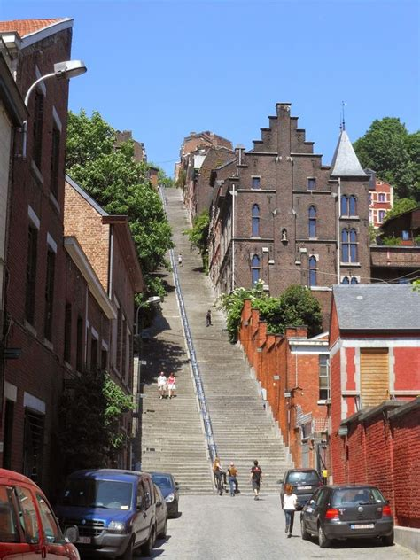 liege stairs the stairway of the mountain bueren belgium