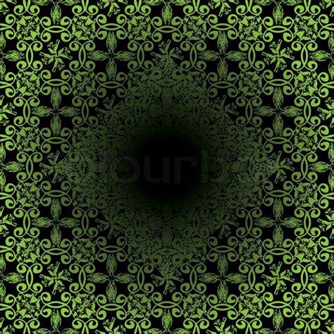 fliese floral illustrierte nahtlose abstrakt gr 252 n und schwarz floral