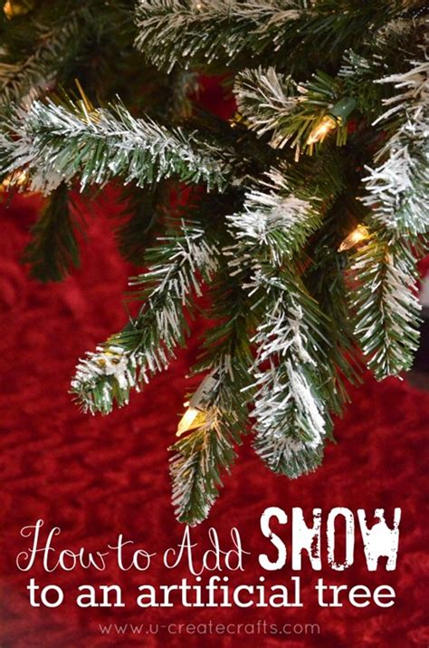 snowiest fake tree how to add snow to an artificial tree u create bloglovin