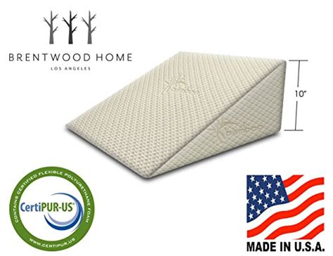 therapeutic bed wedge pillow brentwood home zuma therapeutic foam bed wedge pillow
