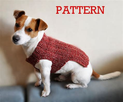 free download pattern for dog coat crochet dog sweater pattern pdf format pattern dog by