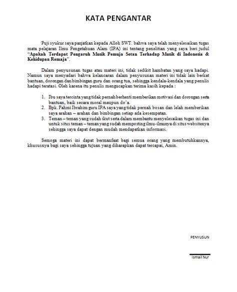 Cara Membuat Kata Pengantar Ipa | contoh makalah penelitian ilmiah smk kelas x yangkutauu