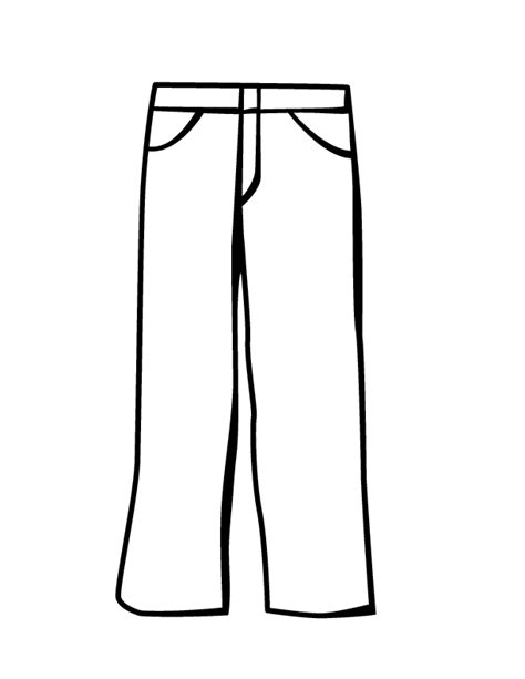 free coloring pages of cartoon trousers