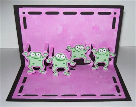 frog pop up card template susan bluerobot hop a frog pop up card plus sure cuts a