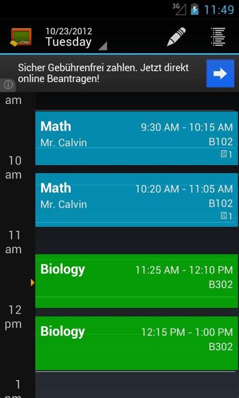 android class my class schedule timetable android apps on play