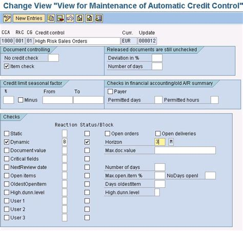 Sap Credit Management Formula Maintenance Configure And Customize Sap Automatic Credit Management Sap Blogs