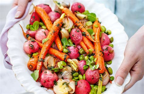 easter lunch side dishes glazed vegetables roast side dishes tesco real food
