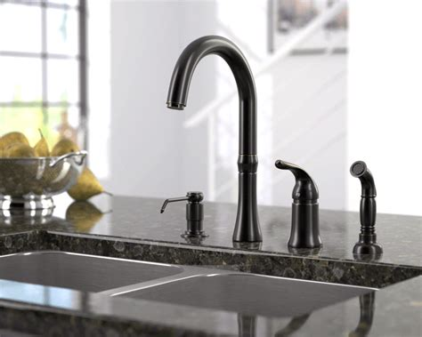 710 orb oil rubbed bronze 4 hole kitchen faucet ebay 710 abr antique bronze 4 hole kitchen faucet
