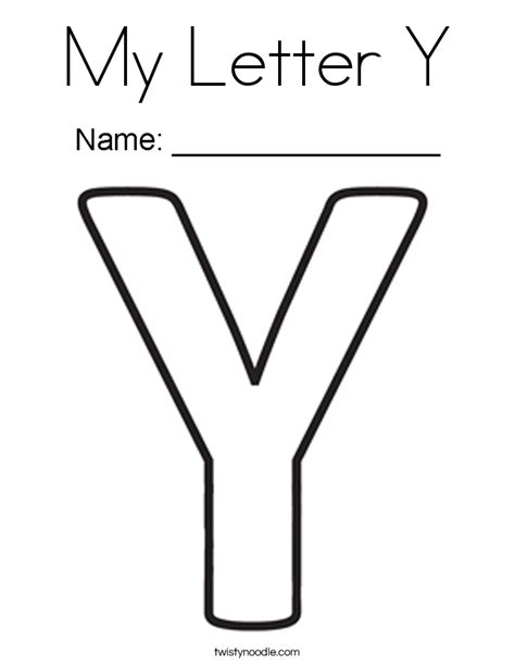 Y Coloring Pages by My Letter Y Coloring Page Twisty Noodle