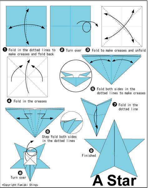 Origami Stat - origami step by step origami tutorial