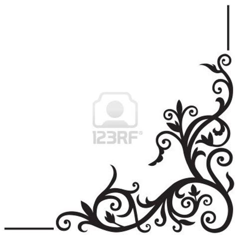 corner design arabic floral pattern element for design corner stock