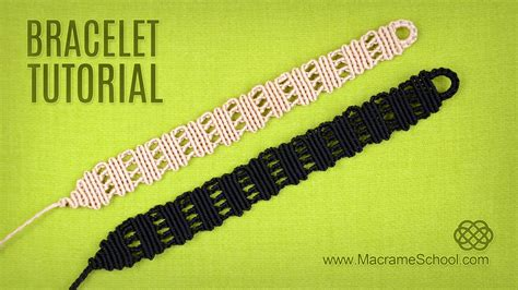 Macrame School - easy stripes bracelet tutorial macrame school