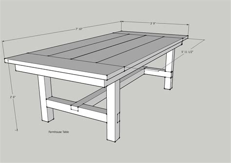 built this how to build a farmhouse table