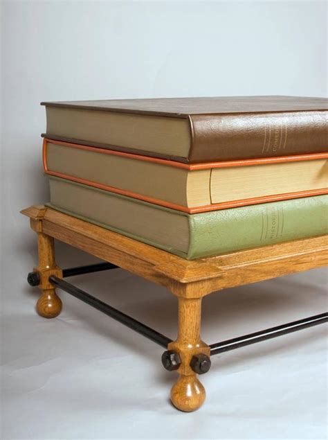 stacked books coffee table or side table by dickinson