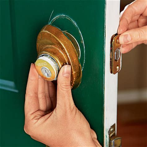 Remove Exterior Door Knob Remove The Entry Set How To Upgrade Front Door Hardware This House