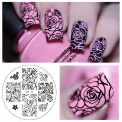 Nail Templates by Flower Nail Sting Template Image Plate Born