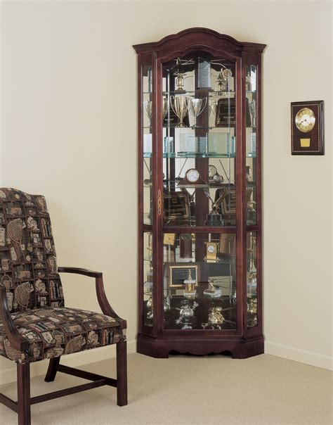 furniture oak curio cabinets mirrored curio cabinet