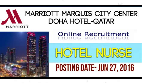 Marriott Hotels Mba Internship by Nurses Middle East Hotel Qatar Doha