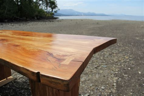 Hand Crafted Live Edge, Arbutus / Madrone Slab Table, Desk