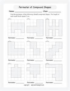 find the perimeter of compound shapes in grids use the