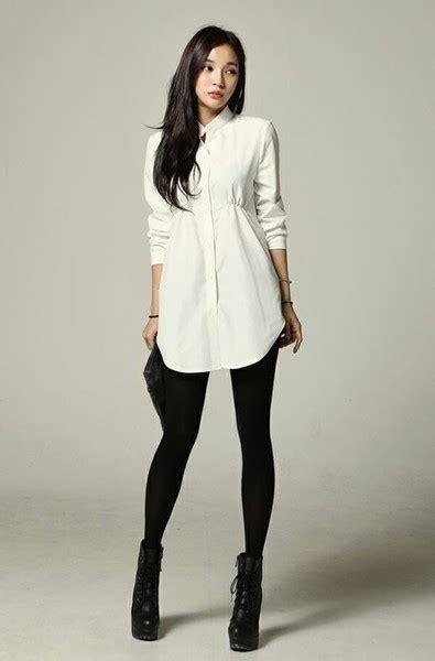desain dress ala korea neat tailored chic leggings outfits you can actually