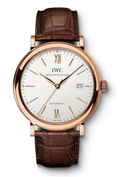 Ac 6376 Rosegold Orange Brown Leather iwc portofino automatic iw3565 w mid