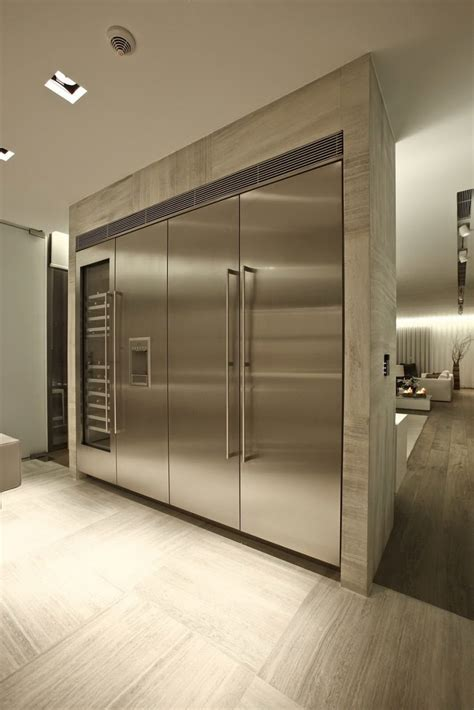 oversized refrigerator large stainless steel appliances interior design ideas