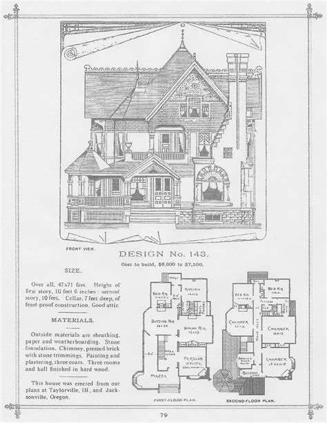 george barber house plans george barber plan 143 in central illinois victorian homes pinterest barbers