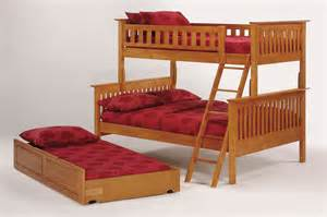Wooden Futon Bunk Bed Mission Bunkbed By J M Furniture