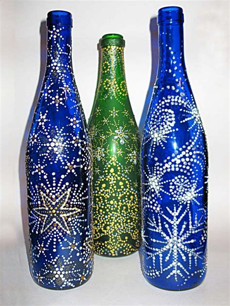 handmade christmas crafts  ways  recycle glass bottles