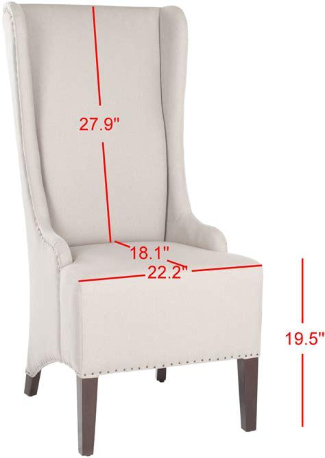 becall  linen dining chair flat nail heads