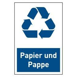 Aufkleber Papier by Recycling Aufkleber Quot Papier Und Pappe Quot 100 X 150 Mm