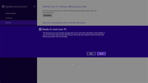 factory reset to windows 8 how to restore windows 8 1 to factory settings