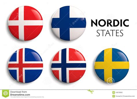 Scandinavian Design House nordic scandinavian flags stock illustration image 44878892