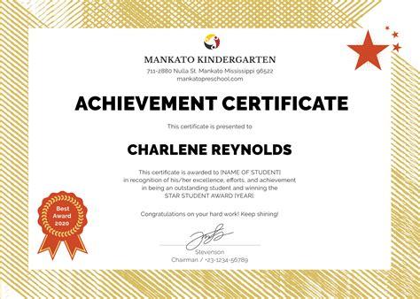 performer certificate templates best performer certificate template filename town