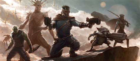 film marvel guardians of the galaxy concept art reveals marvel s plans for guardians of the
