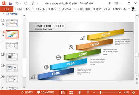 Animated Timeline Maker Template For Powerpoint Animated Timeline Powerpoint Template