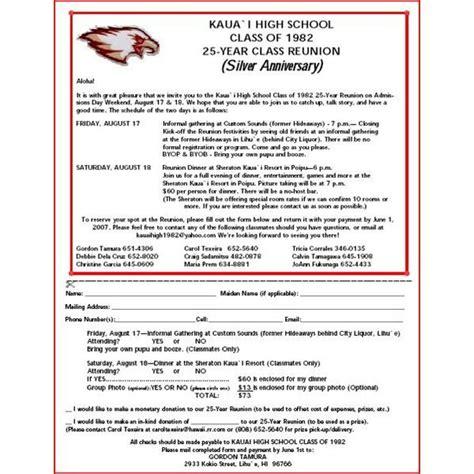 class reunion program template high school reunion flyers a selection of