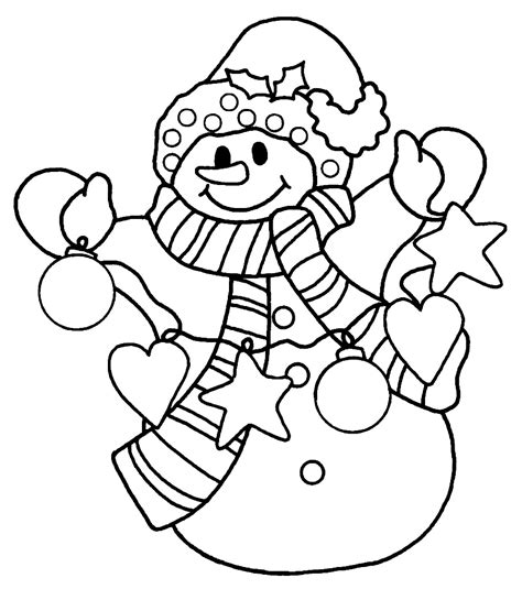 christmas tree and snowman coloring pages christmas snowman coloring pages