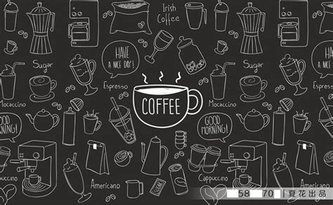 wallpaper with coffee theme diy 3d retro personality large mural painted coffee theme