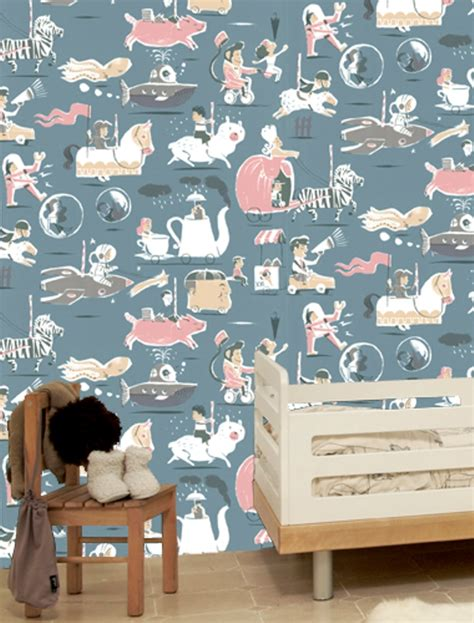 kids room wallpaper playful wallpapers for the kids room by tres tintas
