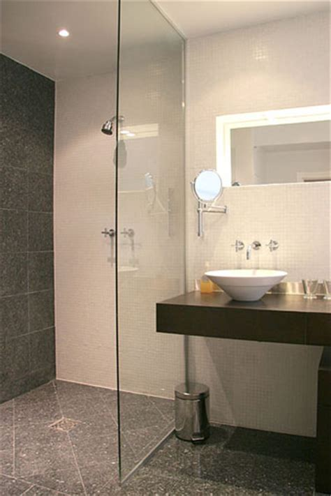 Open Shower Small Bathroom Open Shower Design Small Bathrooms