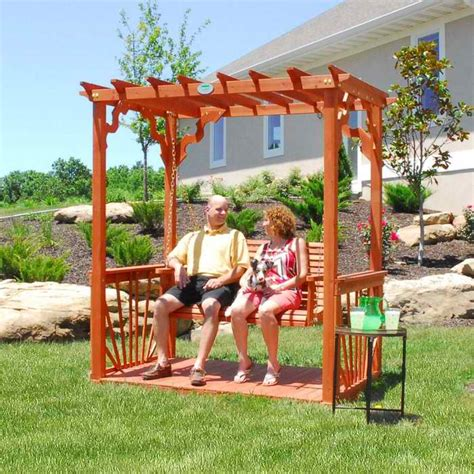 backyard cedar pergola swing set swingsets and playsets