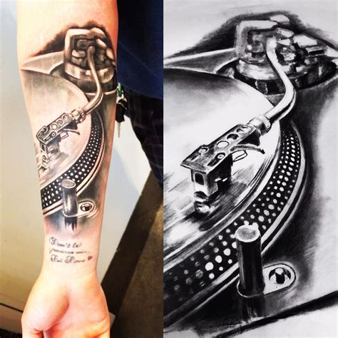 dj tattoo designs record player tatuagens