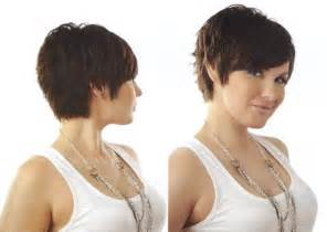 Cute short shaggy layered pixie haircut pictures front side and back