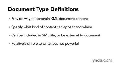 tutorial xml dtd what is a dtd
